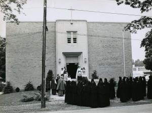 Dedication of St. John School in 1965