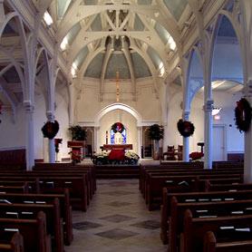 Altar brought forward toward congregation