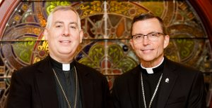 Bishops-elect Robert Reed and Mark O'Connell pictured June 10, 2016. Photo by Gregory L. Tracy/ The Pilot