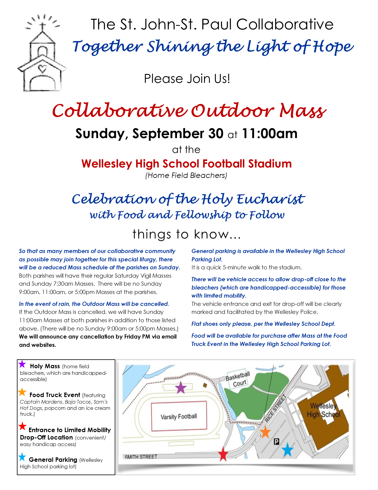 Our Collaborative Outdoor Mass: Sunday, September 30 at 11:00am