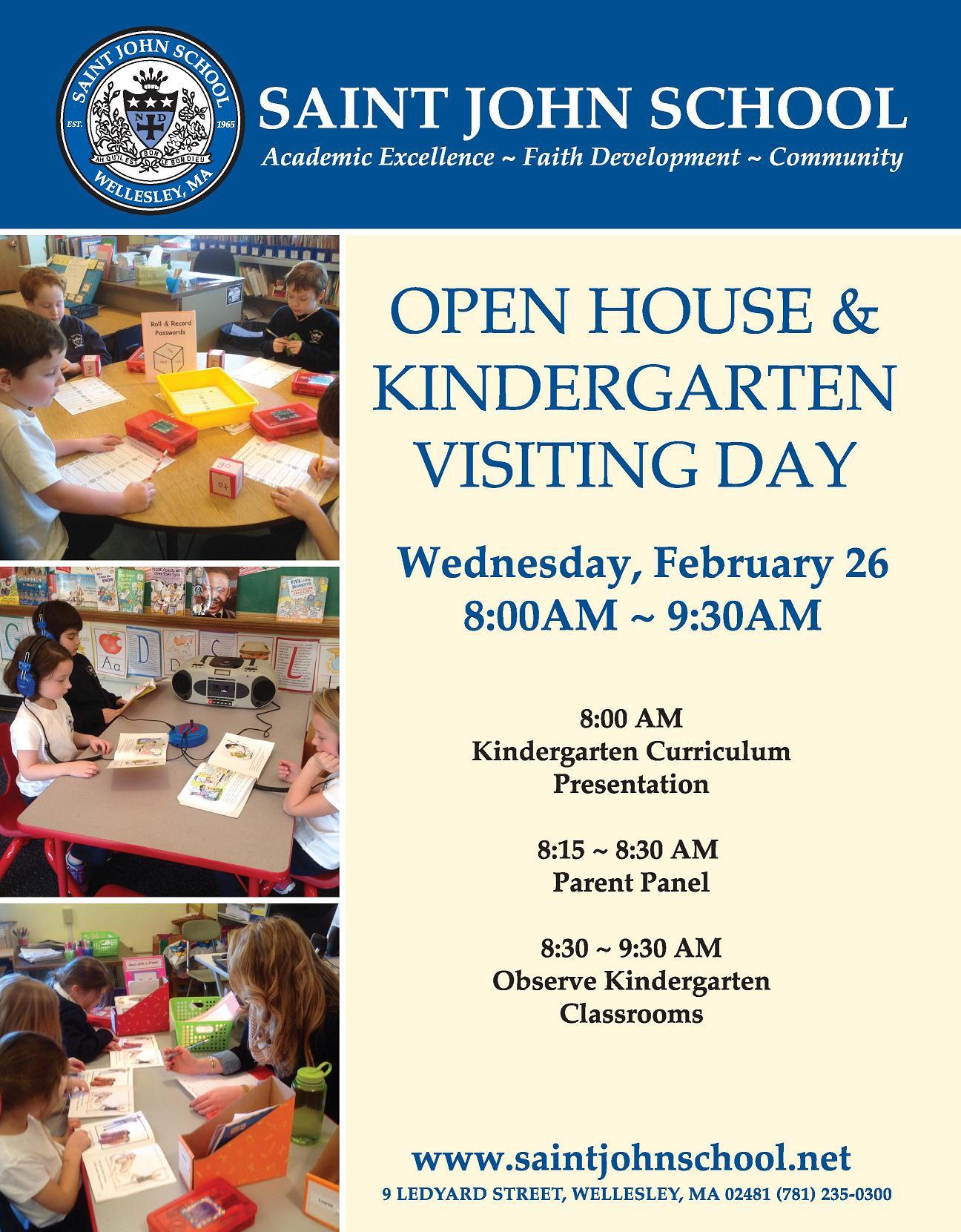 Advent Calendar Preschool : Kindergarten visiting day open house flyer st john the